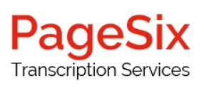 PageSix - transcription work UK